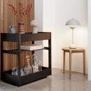 Stool #820 + serving trolley #135