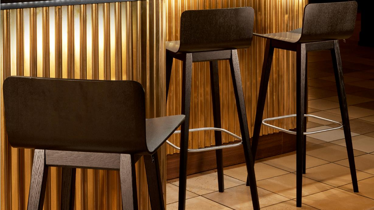 Counter chair #808 + bar stool #809